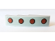 Part No: 61678pb123  Name: Slope, Curved 4 x 1 with 4 Red Dots with Black Outline Pattern (Sticker) - Set 10269