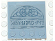 Part No: 6179pb004  Name: Tile, Modified 4 x 4 with Studs on Edge with Runes/Engraving Pattern (Sticker) - Set 4766