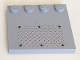 Part No: 6179pb029  Name: Tile, Modified 4 x 4 with Studs on Edge with 6 Black Rivets on Small Silver Tread Plate Pattern (Sticker) - Set 7945