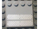 Part No: 6179pb030  Name: Tile, Modified 4 x 4 with Studs on Edge with Black Rivets on Silver Tread Plates Pattern (Stickers) - Set 7945
