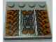 Part No: 6179pb110  Name: Tile, Modified 4 x 4 with Studs on Edge with SW Sith Infiltrator Mechanical Pattern (Sticker) - Set 7961