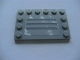 Part No: 6180pb034a  Name: Tile, Modified 4 x 6 with Studs on Edges with Steel Plate with Scratches Type A Pattern (Sticker) - Set 8273