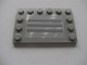 Part No: 6180pb034b  Name: Tile, Modified 4 x 6 with Studs on Edges with Steel Plate with Scratches Type B Pattern (Sticker) - Set 8273