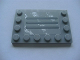 Part No: 6180pb034c  Name: Tile, Modified 4 x 6 with Studs on Edges with Steel Plate with Scratches Type C Pattern (Sticker) - Set 8273