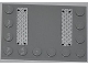 Part No: 6180pb052  Name: Tile, Modified 4 x 6 with Studs on Edges with Two Silver Tread Plates Pattern (Stickers) - Set 4643