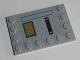 Part No: 6180pb088R  Name: Tile, Modified 4 x 6 with Studs on Edges Dark Tan Hatch Black Grille Pattern (Sticker) - Set 75140