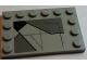 Part No: 6180pb098L  Name: Tile, Modified 4 x 6 with Studs on Edges with SW Sith Infiltrator Panel Pattern Model Left Side (Sticker) - Set 7961