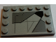 Part No: 6180pb098R  Name: Tile, Modified 4 x 6 with Studs on Edges with SW Sith Infiltrator Panel Pattern Model Right Side (Sticker) - Set 7961