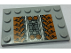 Part No: 6180pb099  Name: Tile, Modified 4 x 6 with Studs on Edges with SW Sith Infiltrator Mechanical Pattern (Sticker) - Set 7961