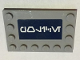Part No: 6180pb111  Name: Tile, Modified 4 x 6 with Studs on Edges with White Alien Characters on Dark Blue Background Pattern (Sticker) - Set 75046