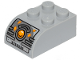 Part No: 6215pb07  Name: Brick, Modified 2 x 3 with Curved Top with Juicer Controls and Bright Light Orange Button Pattern (Sticker) - Set 40336
