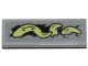 Part No: 63864pb109L  Name: Tile 1 x 3 with Yellowish Green Tentacle Pattern Model Left Side (Sticker) - Set 70433
