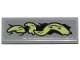Part No: 63864pb109R  Name: Tile 1 x 3 with Yellowish Green Tentacle Pattern Model Right Side (Sticker) - Set 70433