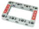 Part No: 64179pb002  Name: Technic, Liftarm 5 x 7 Open Center Frame Thick with White Circles and Arrows on Red Background Pattern (Stickers) - Set 42054
