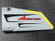 Part No: 64392pb017  Name: Technic, Panel Fairing #17 Large Smooth, Side A with Red 'DANGER', Black Vents and Yellow Stripe on Edge Pattern (Sticker) - Set 7160