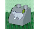 Part No: 6474pb15  Name: Duplo, Brick 2 x 2 Slope 45 with Greenland Map and Polar Bear Pattern