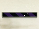 Part No: 6636pb097  Name: Tile 1 x 6 with Black and Dark Purple Danger Stripes and 2 Bullet Holes Pattern (Sticker) - Set 6864