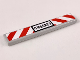 Part No: 6636pb180  Name: Tile 1 x 6 with 'CM60223' License Plate and Red and White Danger Stripes Pattern (Sticker) - Set 60220