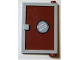Part No: 73435c04pb01  Name: Door 1 x 4 x 5 Right with Reddish Brown Glass with Porthole Pattern (Sticker) - Set 4981