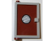 Part No: 73436c04pb01  Name: Door 1 x 4 x 5 Left with Reddish Brown Glass with Porthole Pattern (Sticker) - Set 4981