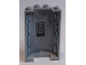 Part No: 85941pb008  Name: Cylinder Half 2 x 4 x 5 with 1 x 2 Cutout with Vent Slots and Control Panel Pattern (Stickers) - Set 75190