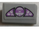 Part No: 85984pb165  Name: Slope 30 1 x 2 x 2/3 with Purple Gauges and Target Screen Pattern (Sticker) - Set 76047