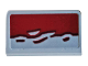 Part No: 85984pb239  Name: Slope 30 1 x 2 x 2/3 with Dark Red Broken Edge Pattern (Sticker) - Set 76078