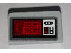 Part No: 85984pb245  Name: Slope 30 1 x 2 x 2/3 with SW Buttons and Red Screen Pattern (Sticker) - Set 75156