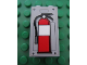 Part No: 87544pb002  Name: Panel 1 x 2 x 3 with Side Supports - Hollow Studs with Fire Extinguisher Pattern (Sticker) - Set 7596