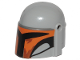 Part No: 87610pb10  Name: Minifigure, Headgear Helmet with Holes, SW Mandalorian with Orange and Black Pattern