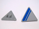 Part No: 892pb018L  Name: Road Sign 2 x 2 Triangle with Clip with Blue Stripe on Light Bluish Gray Background Pattern Model Left Side (Sticker) - Set 7868