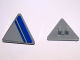 Part No: 892pb018R  Name: Road Sign Clip-on 2 x 2 Triangle with Blue Stripe on Light Bluish Gray Background Pattern Model Right Side (Sticker) - Set 7868