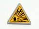 Part No: 892pb022  Name: Road Sign 2 x 2 Triangle with Clip with Yellow Explosion Type 1 Pattern (Sticker)