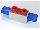 Part No: 92914c01  Name: Duplo Siren with Light and Sound, 1 x 2 Base with Red 2 Stud Button on Top and Trans-Dark Blue Light Covers
