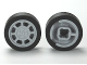 Part No: 93593c01  Name: Wheel 11mm D. x 6mm with 8 Spokes with Black Tire 14mm D. x 6mm Solid Smooth (93593 / 50945)