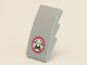 Part No: 93606pb007  Name: Slope, Curved 4 x 2 with Miners Logo (Helmet with Crossed Pickaxes in Gear) Pattern (Sticker) - Set 4204
