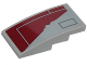 Part No: 93606pb067  Name: Slope, Curved 4 x 2 with SW Resistance Transport Pod Hull Plates and Red Worn Patch Pattern (Sticker) - Set 75176
