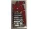 Part No: 93606pb084  Name: Slope, Curved 4 x 2 with SW Vent and Peeling Dark Red Paint Pattern (Sticker) - Set 75202