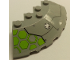 Part No: 95188pb29R  Name: Brick, Round Corner 6 x 6 with Slope 33 Edge, Facet Cutout with Round Vent and Lime Hexagons on Transparent Background Pattern Model Right Side (Sticker) - Set 76040