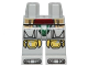 Part No: 970c00pb0665  Name: Hips and Legs with SW Boba Fett Armor, Small Dark Red Belt and Tan Pattern