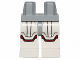 Part No: 970c01pb24  Name: Hips and White Legs with SW Jek-14 Armor with Dark Red Markings Pattern