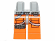Part No: 970c04pb04  Name: Hips and Orange Legs with SW Pilot Pockets, Three Bullets and Gray Belts Pattern