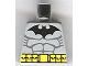 Part No: 973pb0182  Name: Torso Batman Logo with Muscles and Yellow Belt Pattern