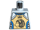 Part No: 973pb0346  Name: Torso Castle Knights Kingdom II Lion with Crown Pattern