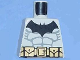 Part No: 973pb0417  Name: Torso Batman Logo with Muscles and Yellow Belt with Snaps Pattern