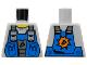 Part No: 973pb0536  Name: Torso Power Miners Blue Vest over Sweaty Shirt Pattern