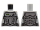 Part No: 973pb0616  Name: Torso Power Miners Silver Body Armor Front and Back, Drill on Upper Left Pattern