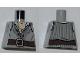 Part No: 973pb0889  Name: Torso PotC Open Vest with Dark Bluish Gray Embroidery and Dark Brown Belt Pattern