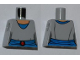 Part No: 973pb0977  Name: Torso SW Light Bluish Gray Shirt, Blue Belt with Red Buckle Pattern (Padme)