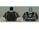 Part No: 973pb1037c01  Name: Torso SW Armor Plates Pattern (Dengar) / Reddish Brown Arms / White Hands